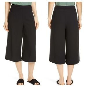 EILEEN FISHER Silk Georgette Crepe Culottes Pants